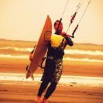 Kiter met waveboards