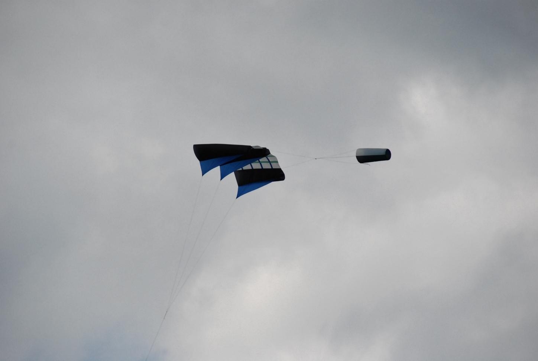 Slede kite met staart