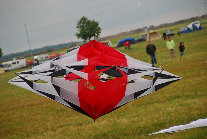 open 3D kite Spin
