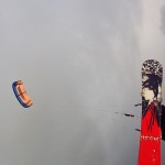 Snowboard en kite